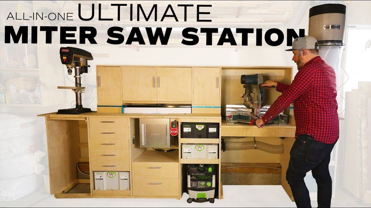 My ultimate miter saw station  With built-in dust collection router