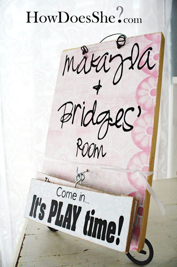 Fun DIY sign tutorial It would be great to have one on the front