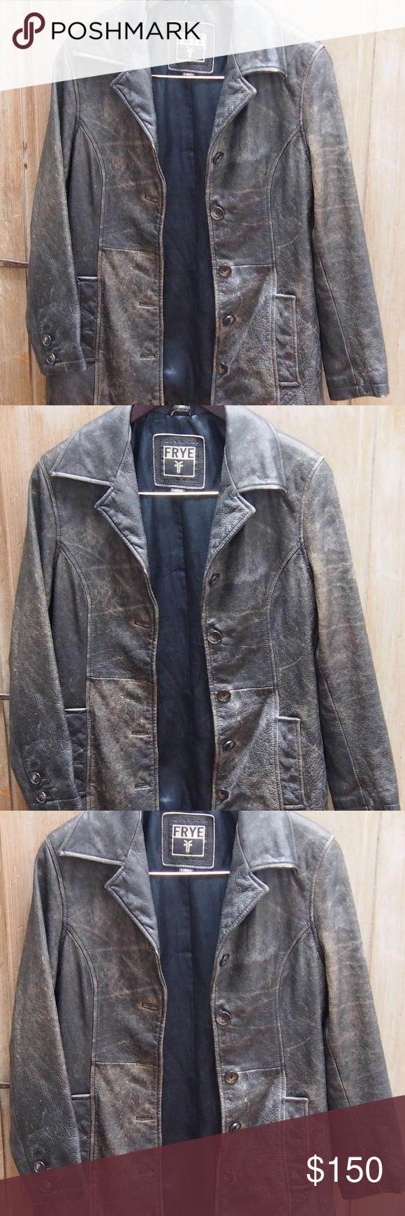 Frye Vtg Classic Rugged Distressed Leather Jacket Distressed Leather Jacket Vintage Leather Jacket Fashion