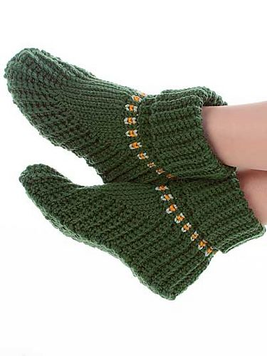 Ravelry Slipper Boots Pattern By Elsie M Caddey Free Pattern