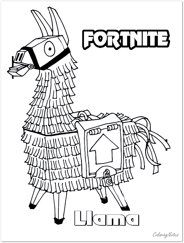 Fortnite Coloring Pages Llama Skin Free In 2020 Coloring Pages Coloring Pages For Boys Fnaf Coloring Pages