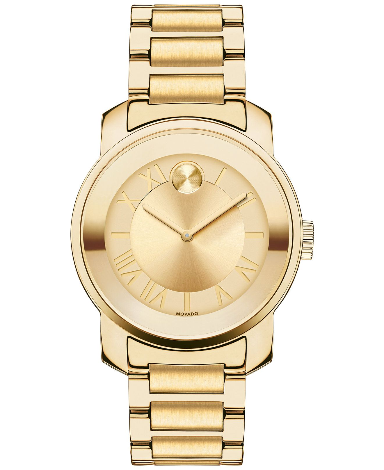movado women s swiss bold gold ion plated stainless steel bracelet movado women s swiss bold gold ion plated stainless steel bracelet watch 32mm 3600323