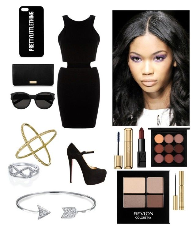 """Sans titre #46"" by rosemie ❤ liked on Polyvore featuring AX Paris, Christian Louboutin, Henri Bendel, Yves Saint Laurent, MAC Cosmetics, NARS Cosmetics, Guerlain, Revlon, Bling Jewelry and Eva Fehren"