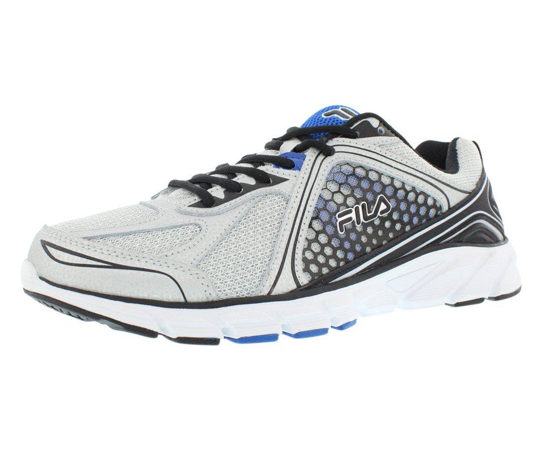Fila Men's Threshold 3 Running Shoe, Metallic SilverBlack