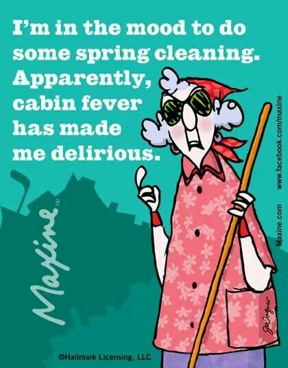 Cabin Fever Funny Quotes Maxine Spring Cleaning
