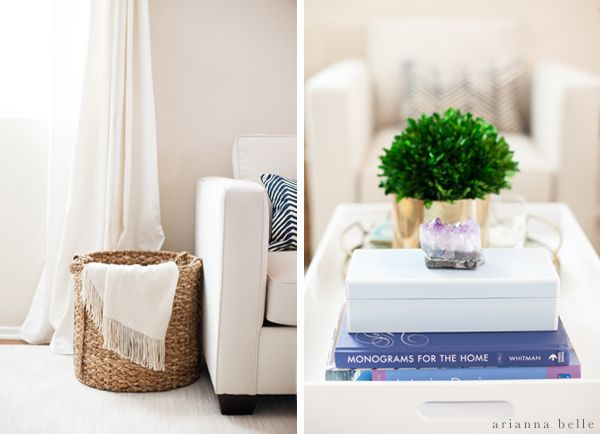 Basket And Coffee Table Decor Arianna Belle One Room Challenge Reveal