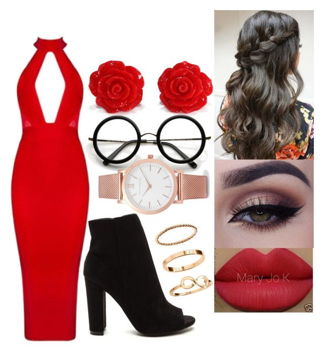 """""""red"""" by msroro12 ❤ liked on Polyvore featuring ZeroUV, H&M and Larsson & Jennings"""