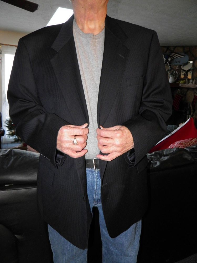 Men S Dark Blue Herringbone Austin Reed Sport Coat Blazer Size 54 R Blazer Blazers Sport Coats Sport Coat