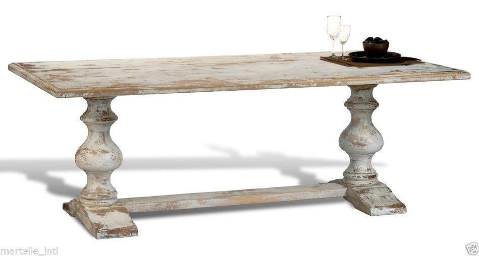 Distressed White Kitchen Table
