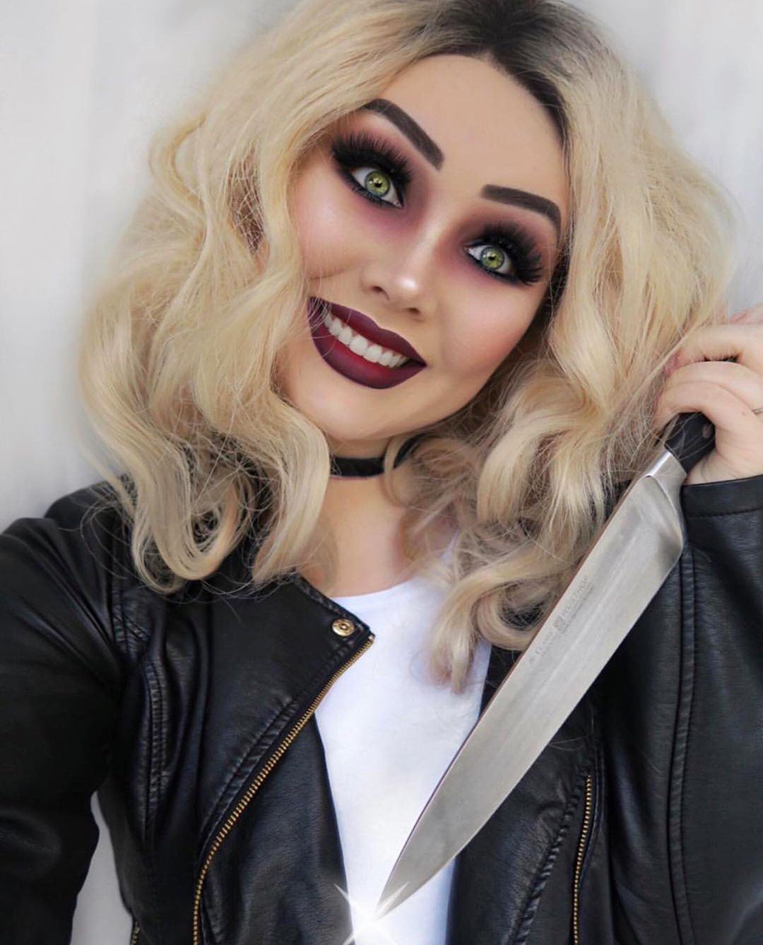 Pin By Halloween Makeup On Make Up In 2020 Bride Of Chucky Makeup Halloween Makeup Diy Easy Bride Of Chucky Halloween