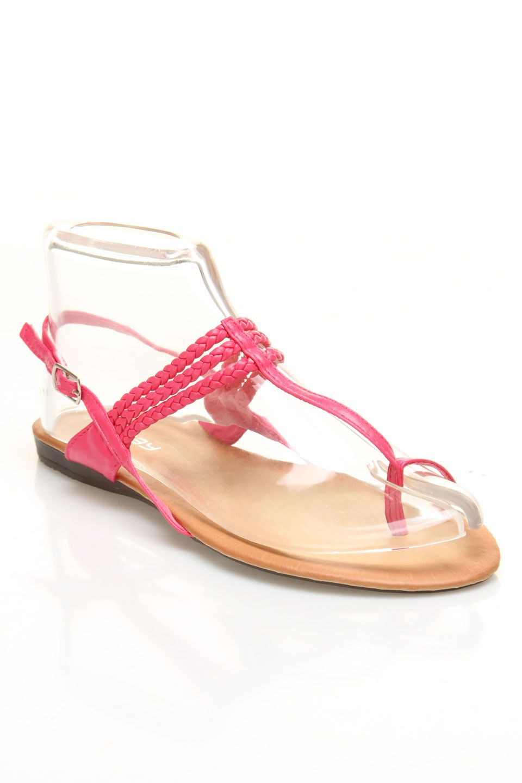 Boudoir Abby-02 Sandals In Fuchsia -