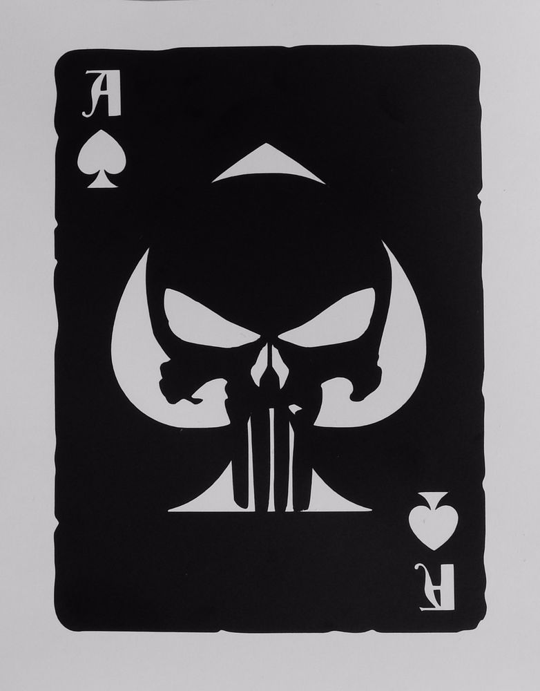 laptop Punisher symbol decal sticker for wall car etc