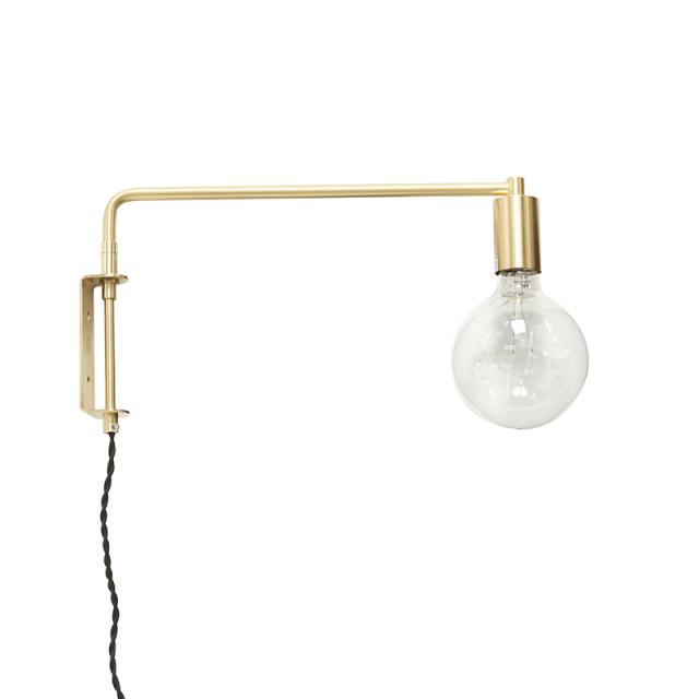 Aplique De Pared De Estilo Nordico Hubsch Wall Lamp Wall Lights Brass Wall Light