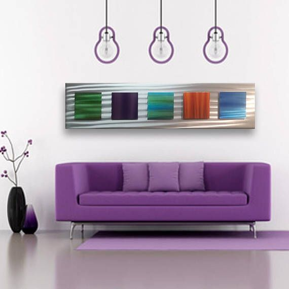 Metal Wall Sculpture Modern Metal Home Decor Rainbow Wall