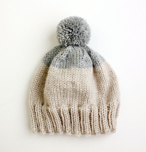 Etsy の Weekender Beanie in Grey MADE TO ORDER by helloquiettiger ...
