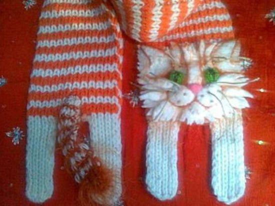 Knitted Cat Scarf Pattern Free Video Tutorial | Chal