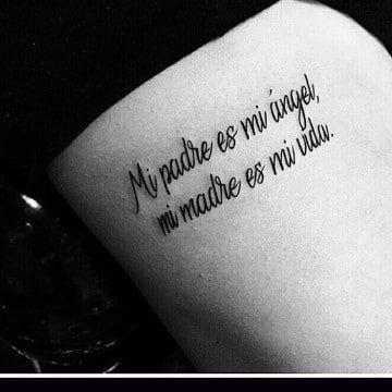 Algunos Originales Tatuajes Con Frases Para Hijos Tatuajes En El