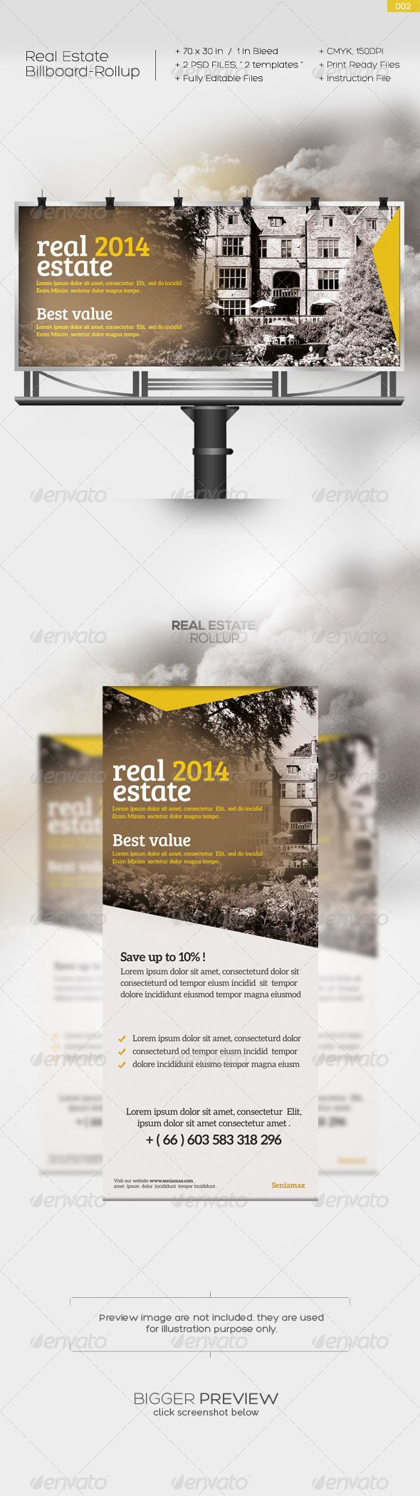 Real Estate Billboard Design Samples - Real estate billboard 002 real estate billboard template design