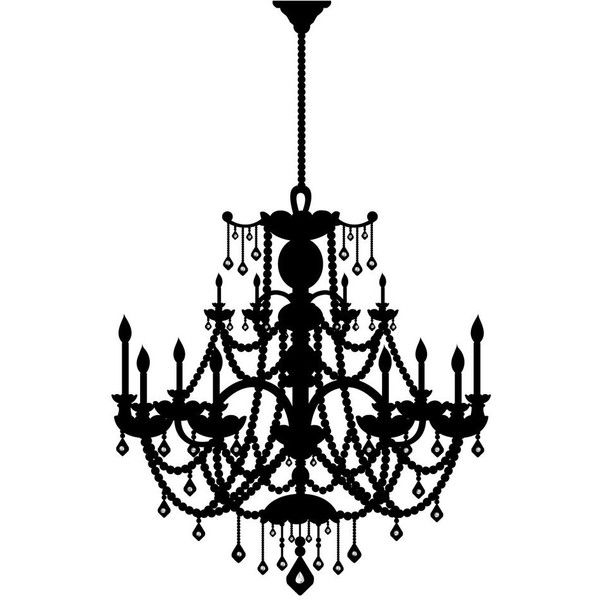 Peel and stick wall decal rhinestone chandelier target ❤ liked on polyvore