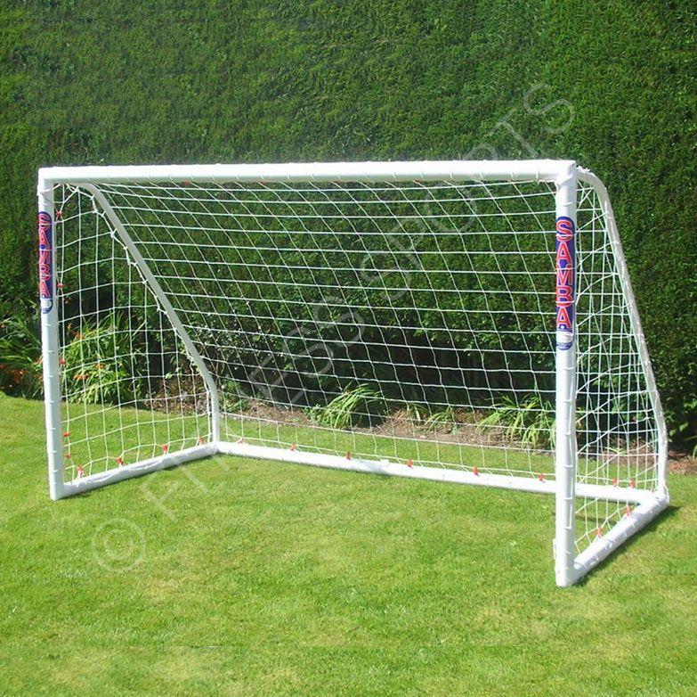 Outdoor garden football goalposts. Perfect back garden lawn soccer ...
