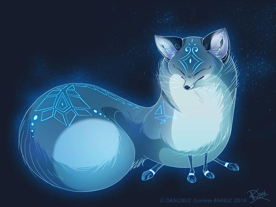 Blue Fox Spirit Style By Dragibuz Spirit Animal Art Mythical