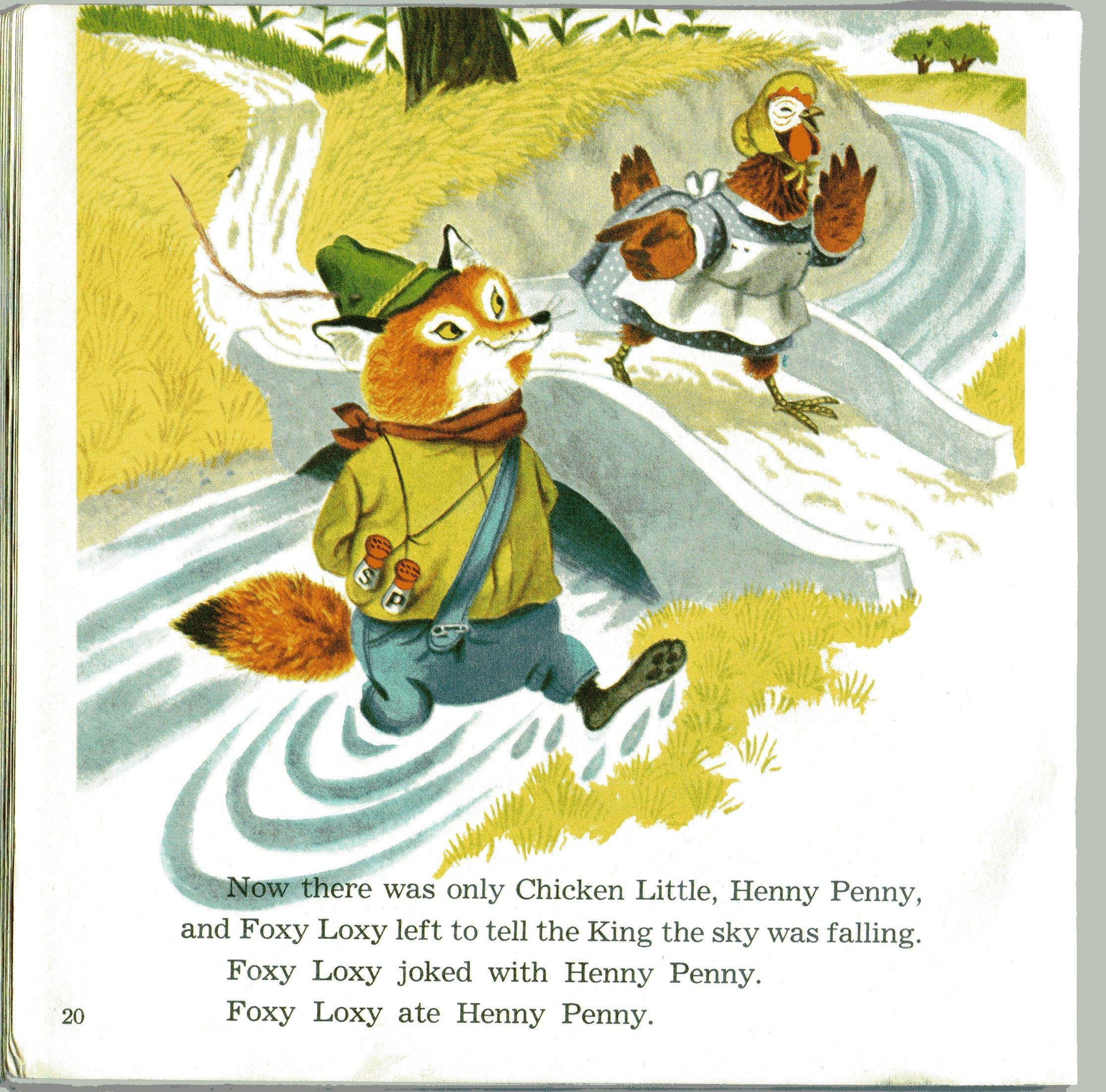 Little Golden Book Chicken Little Illustration By