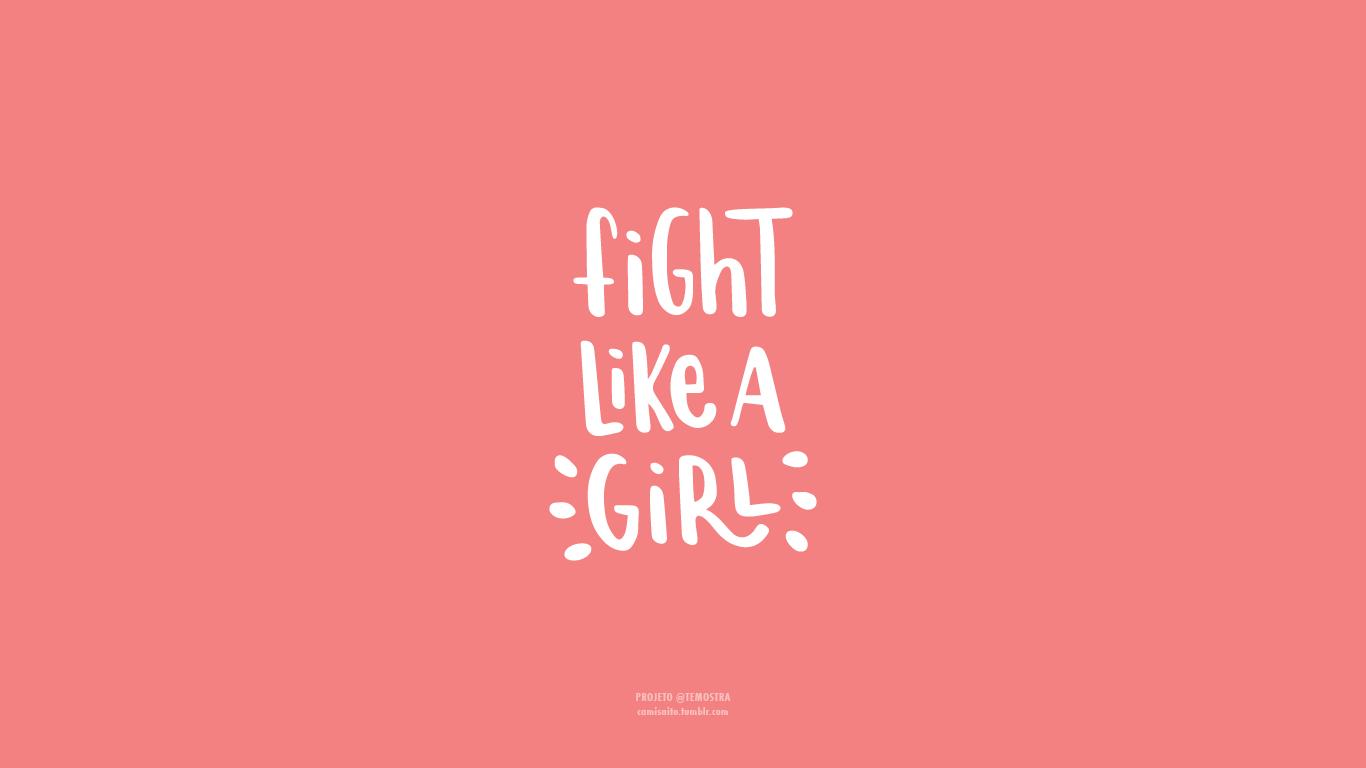 Hot Pink Minimalist Wallpaper Hd Minimalist Wallpaper New Wallpaper Hd Fight Like A Girl