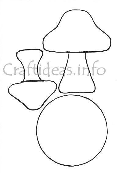 mushroom template craftideas info Ősz gomba pinterest