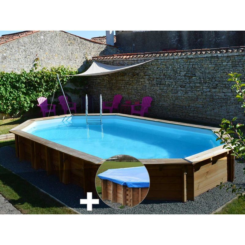 Kit Piscine Bois Sunbay Safran 6 37 X 4 12 X 1 33 M Bache Hiver 790089 779537 Outdoor Decor Home Decor Outdoor