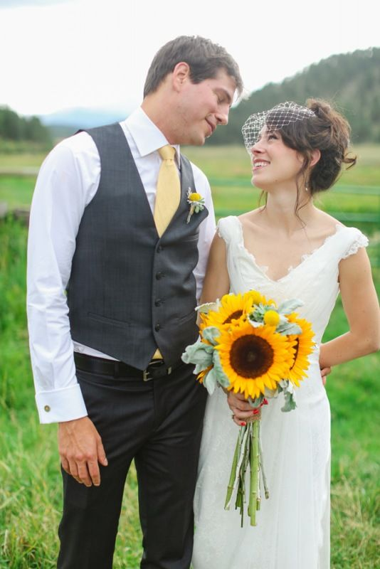 Look At That Long Stemmed Sunflower Bridal Bouquet Sunflower