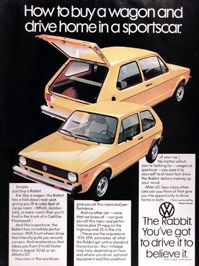 Esposito And VW Rabbit Ads Volkswagen