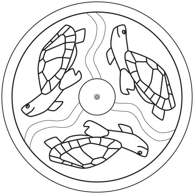 Sea Turtle Mandala Coloring Crafts And Worksheets For Preschool Toddler And Kindergarten Mandala Coloring Pages Mandala Coloring Coloring Pages