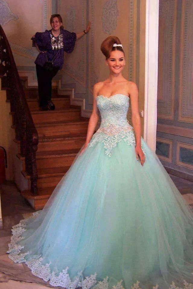 2016 Mint Green Quinceanera Dresses Ball Gown For Sweet 16 Beaded ...