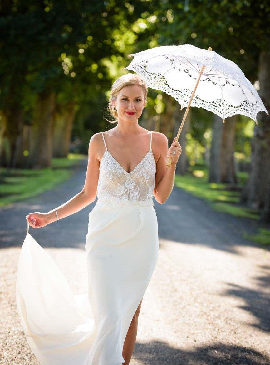 Lihi Hod Diamond White Top Custom Skirt Wedding Dress On Sale 56