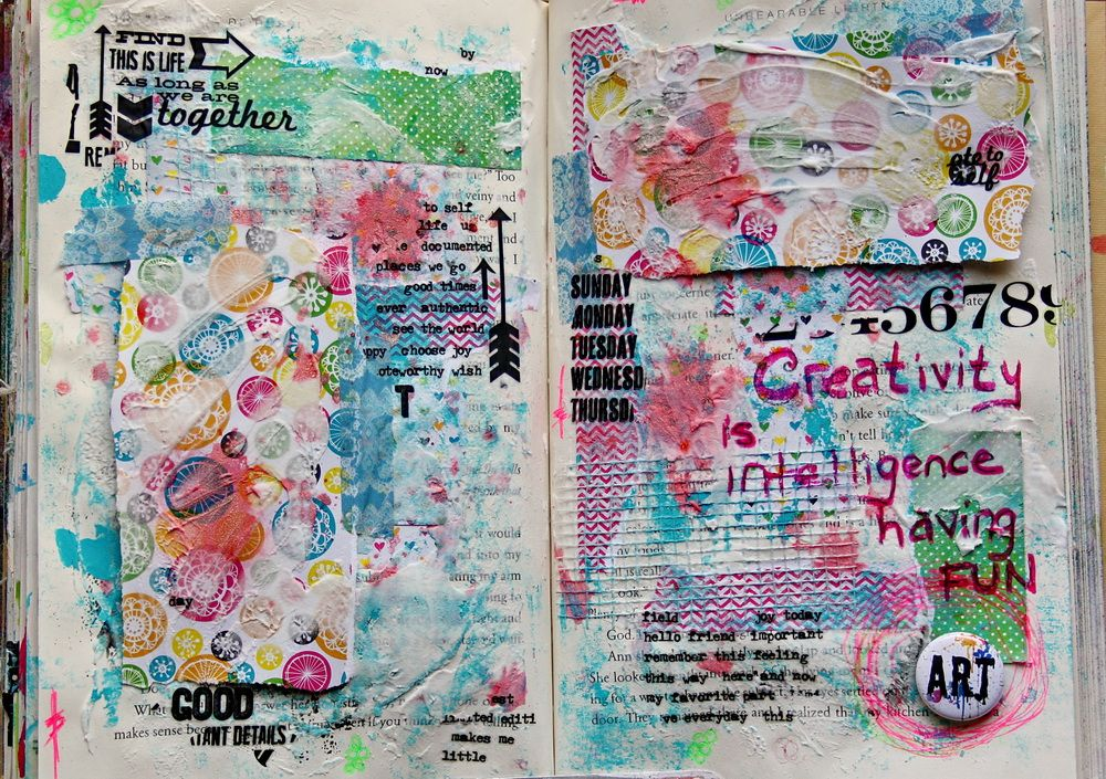 My art journal spread can be seen at Gauche Alchemy. :)