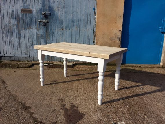 335 Thick Top Reclaimed Wood Farmhouse Dining Table Made To Measure Chunky Old