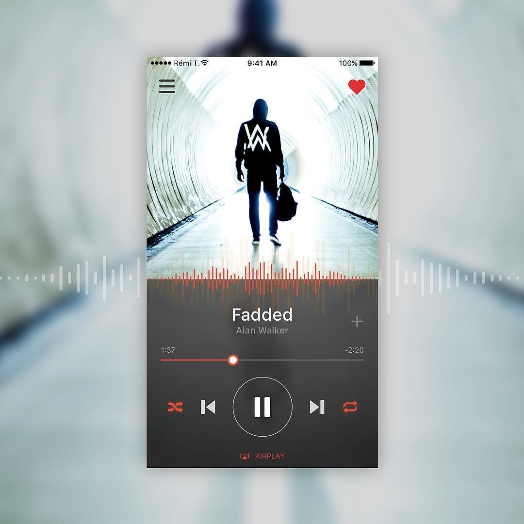 Dribbble social app ui design jpg by ramotion - Daily Ui 009 Dailyui Musicplayer Dribbble Dribbbleinvite Design Ui