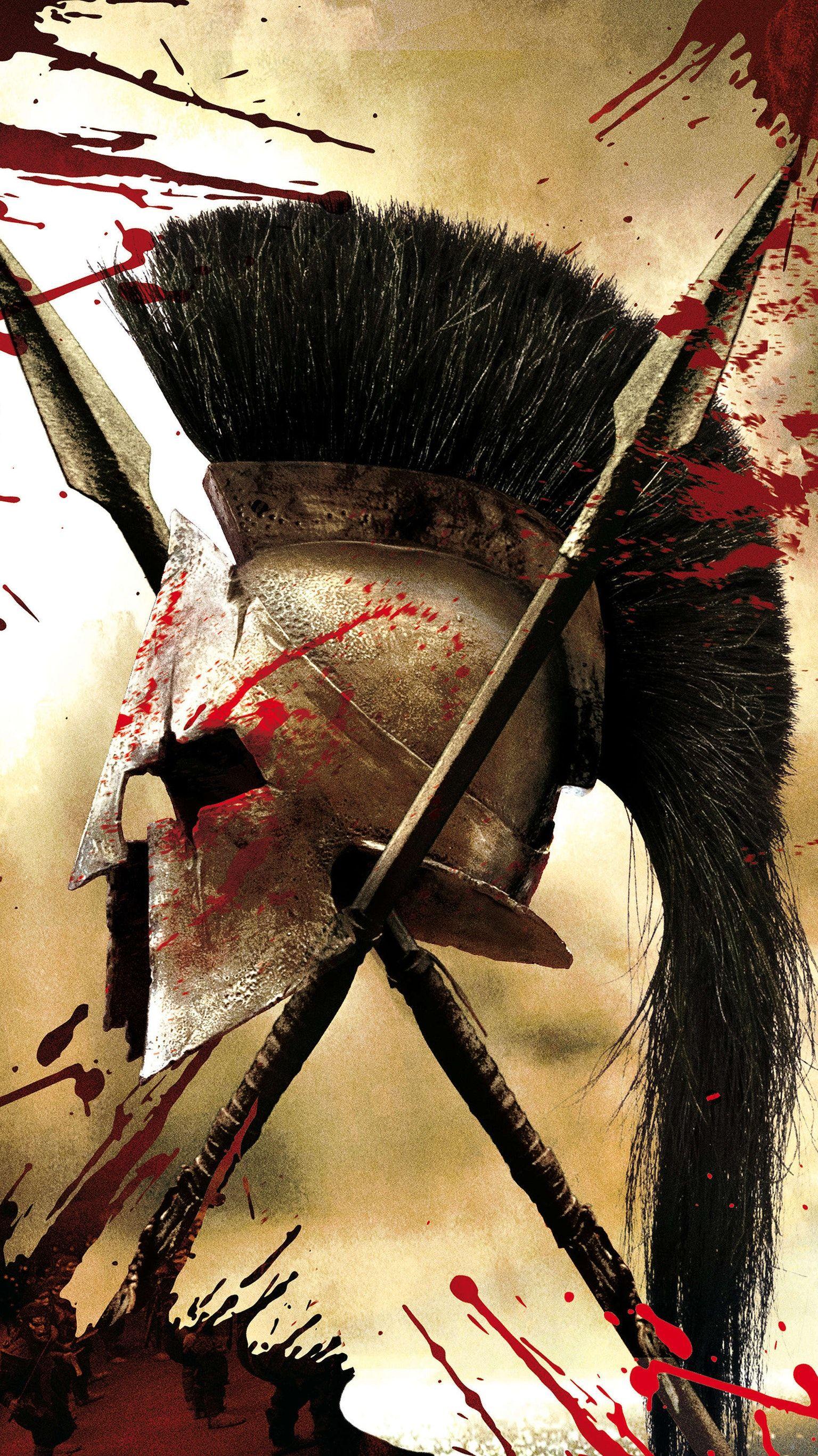 300 (2006) Phone Wallpaper Spartan warrior, Spartan