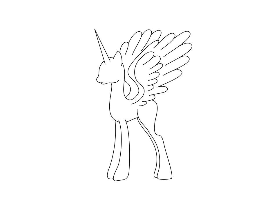 Alicorn Mare Stencil Free By Sassymewthree19 Deviantart Com On Deviantart My Little Pony Drawing My Little Pony Characters Pony Drawing