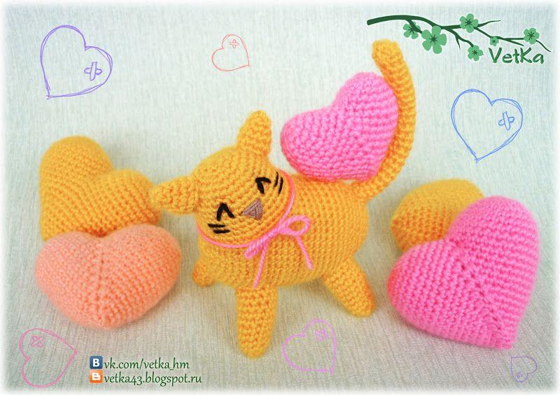 Loving Kitty (Free - Russian) | Crochet-Toys | Pinterest