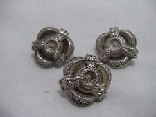 ANTIQUE STERLING SILVER CELTIC DRAGON BUTTONS SET WEST & SON DUBLIN