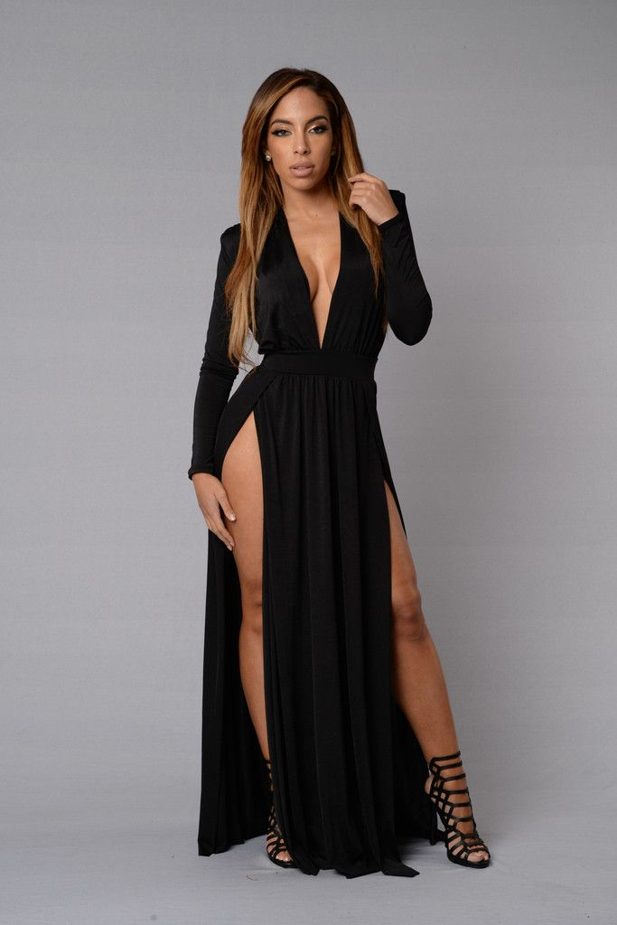 4c31e22c713 Spree Dress - Black in 2019 | Maxi dress | Dresses, Fashion, Double ...