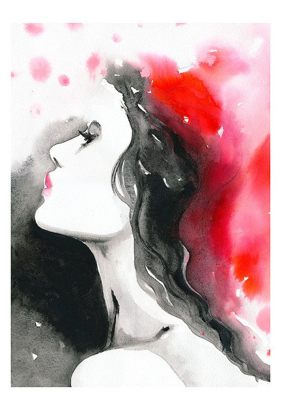 Print Of Watercolor Fashion Illustration Watercolor Painting
