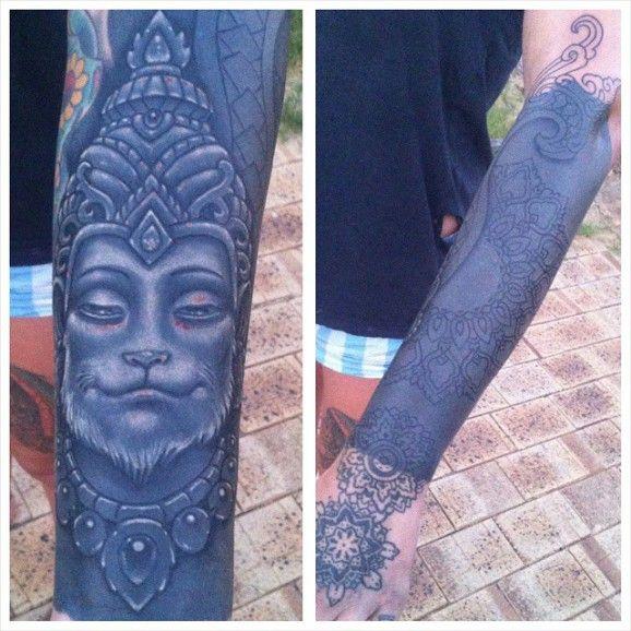 White Ink Over Blackwork Tattoos Black White Tattoos Black Ink Tattoos Solid Black Tattoo