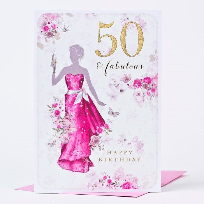 Silhouette Fifty Fab Woman: Wish Them A Happy 50th Birthday With This 'Fifty