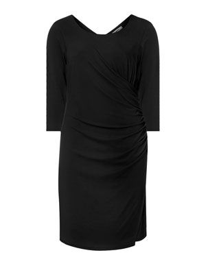 Dress with ruffles in Black designed by Persona to find in Category Dresses at navabi.de