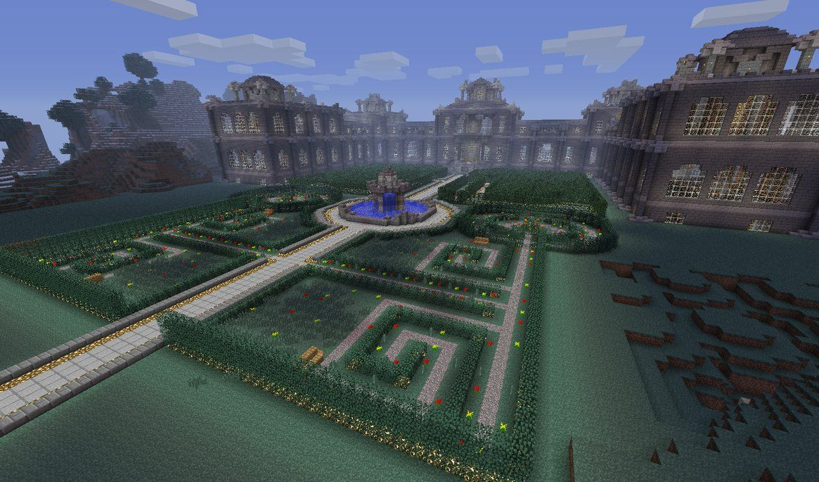 Minecraft Labyrinth Garden Design Amazing Inspiration Design (1165×685)