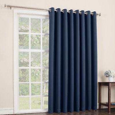Sun Zero Maynard Blackout Single Patio Panel Reviews Wayfair For The Home Patio Door Curtains Curtain For Door Window Patio Curtains