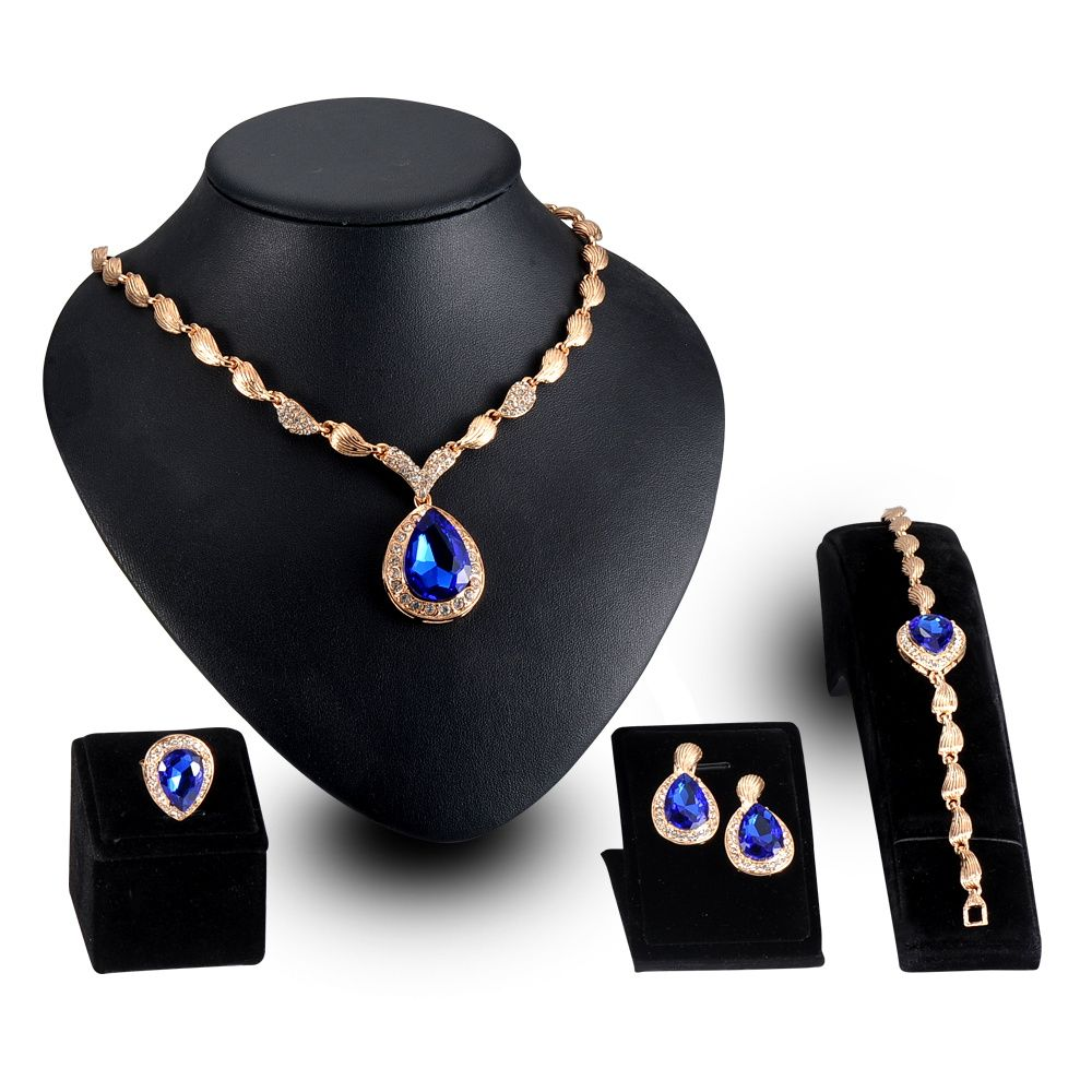 LZESHINE Exaggerated Jewelry Sets African Earing Fashion Jewelry