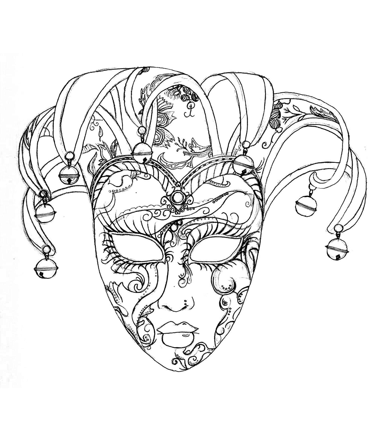 Mandala Fasching Maske  50 Faschingsbilder Zum Ausdrucken